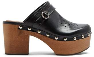 ALEXACHUNG Perforated Leather Clogs - Womens - Black
