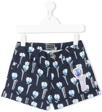 Versace floral print shorts