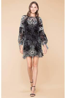 b6976794a2c39e Hale Bob Solange Silk Velvet Burnout Dress