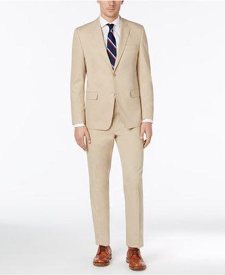Lauren Ralph Lauren Men's Slim-Fit Tan Solid Suit $550 thestylecure.com