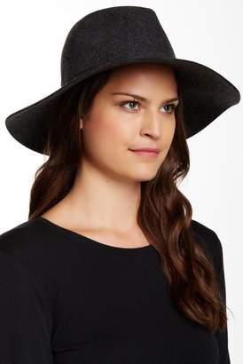 PHENIX Wide Brim Wool & Genuine Leather Fedora $29.97 thestylecure.com