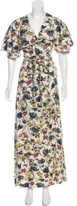 MISA Los Angeles Maxi Wrap Dress