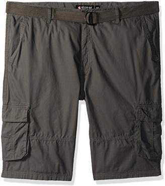 Southpole Men's Big and Tall Belted Mini Canvas Cargo Shorts