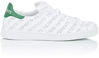 Vetements Men's Logo-Perforated Leather Sneakers