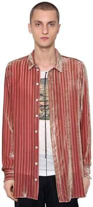 Ann Demeulemeester Stripes Viscose & Silk Shirt