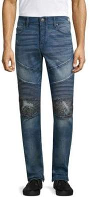 True Religion Rocco Slim Fit Classic Studded Jeans