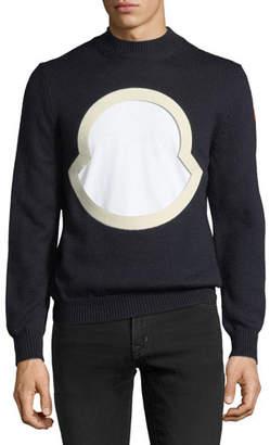 Moncler Men's Graphic-Front Wool Sweatshirt