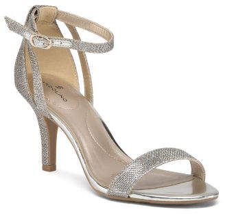 Ankle Strap Sparkle Heels