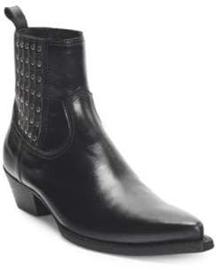 Saint Laurent Lucas Leather Booties