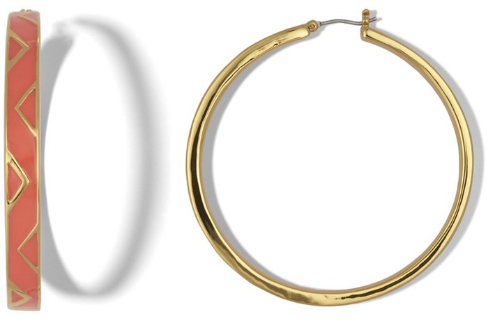 Vince Camuto Chevron Hoop Earrings