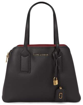At Harvey Nichols Marc Jacobs The Editor Black Pebbled Leather Tote