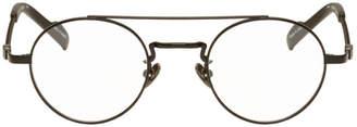 Yohji Yamamoto Black Braided Round Glasses