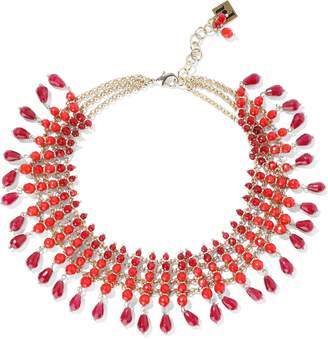 Rosantica Curry Gold-tone Beaded Necklace