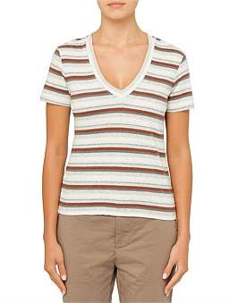 James Perse V Beck Seamed Tee