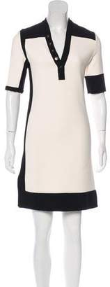 Balenciaga Short Sleeve Knee-Length Dress