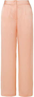 MATÉRIEL - Silk-satin Pants - Peach