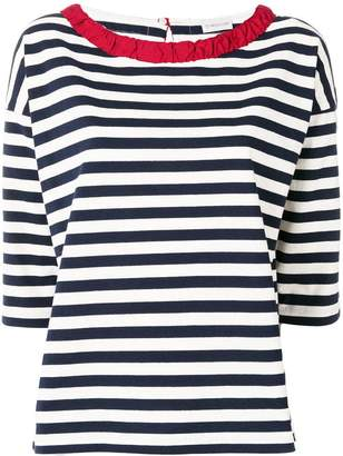 Moncler ruched collar bateau top