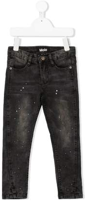 Molo paint-splattered slim fit jeans