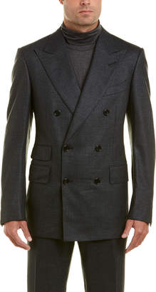 Tom Ford 2Pc Wool& Silk-Blend Suit With Pleated Pant