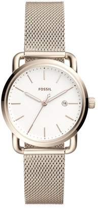 Fossil Women's 'The Commuter' Quartz Stainless Steel Casual Watch, Color: (Model: ES4349)
