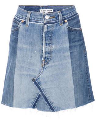 RE/DONE Denim Skirt - Blue - Size 25