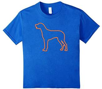 80s Retro Neon Sign Great Dane T-Shirt. 80's Gift