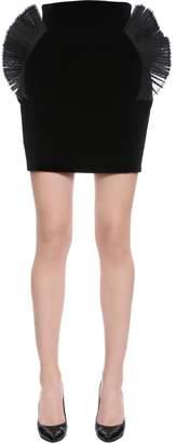 High Waist Cotton Velvet Skirt