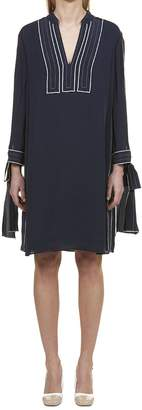 Tory Burch Lace Up Cuffs Dress