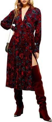 Topshop Paisley Oversize Shirtdress