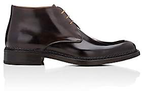 Fratelli Giacometti Men's Burnished Leather Chukka Boots-Navy, Brown