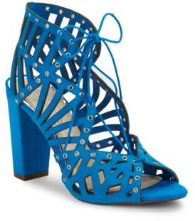 Jessica Simpson Emagine Leather Ghillie Lace Cage Sandals