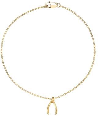 FEATHER+STONE - Gold Wishbone Bracelet