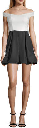 Speechless Short Sleeve Party Dress-Juniors