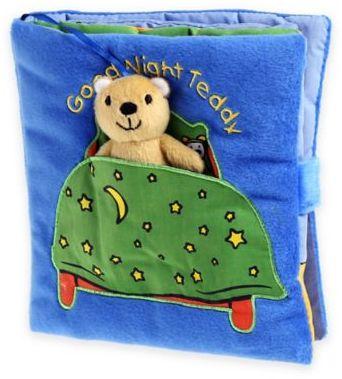 """Barron's Educational Series """"Good Night Teddy"""" Cloth Book by Francesca Ferri"""