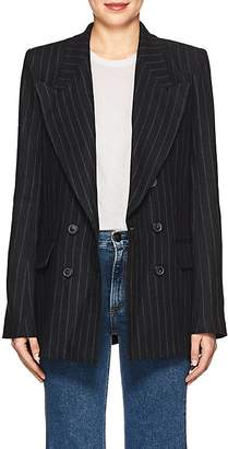 Etoile Isabel Marant Women's Ianey Pinstriped Linen Double-Breasted Blazer