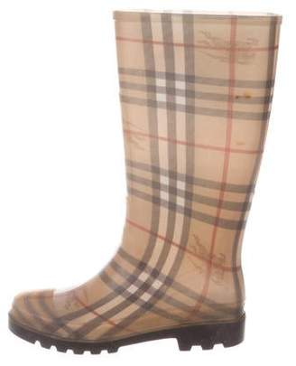 Burberry Rubber Nova Check Boots