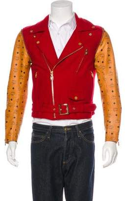 Moto MCM by Phenomenon Wool & Cow Leather Jacket