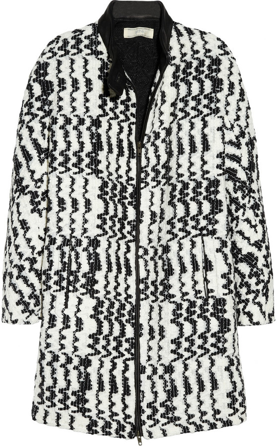 Vanessa Bruno Athé Textured-pattern knitted coat