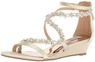 Badgley Mischka Women's Belvedere Wedge Sandal $120.17 thestylecure.com