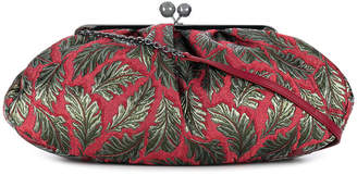 Max Mara leaf jacquard purse bag