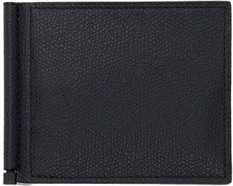 Valextra Navy Simple Grip Wallet