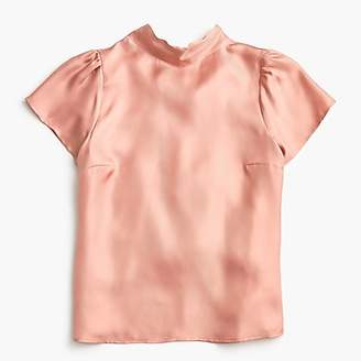 J.Crew Collection silk bow-back top