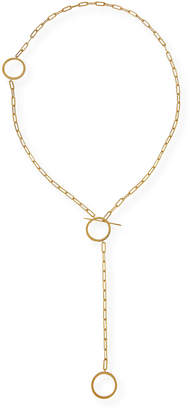 Jennifer Zeuner Jewelry Cora Chunky Chain Lariat Necklace