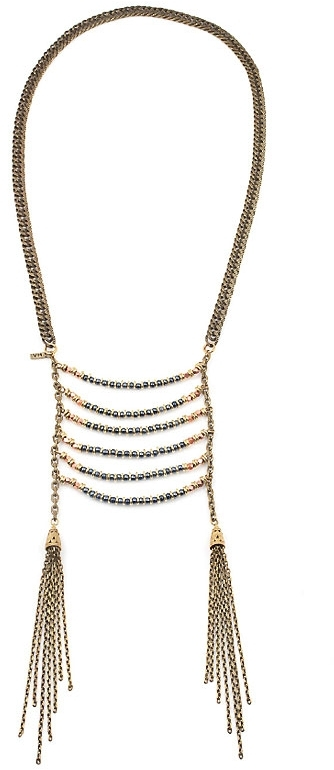 Vanessa Mooney Age of Reason Gun Metal Statement Necklace