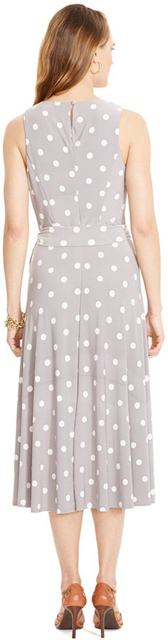 Lauren Ralph Lauren Sleeveless Polka-Dot Dress 3