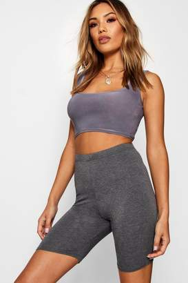boohoo Solid Charcoal Cycling Shorts