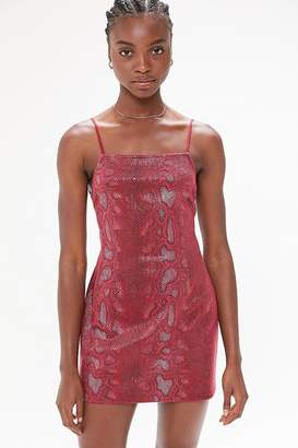 Urban Outfitters Textured Snake Print Mini Dress