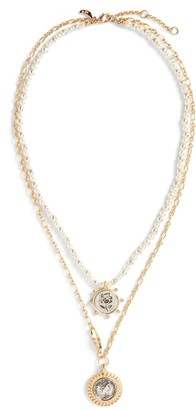 Banana Republic Freshwater Pearl & Coin Necklace