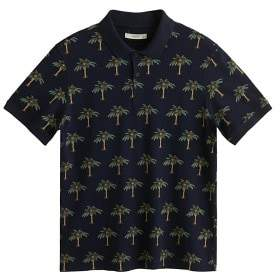 MANGO MAN Printed cotton piquA polo shirt