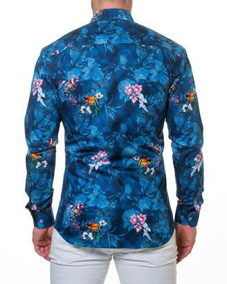 Maceoo Shaped-Fit Blossom Sport Shirt